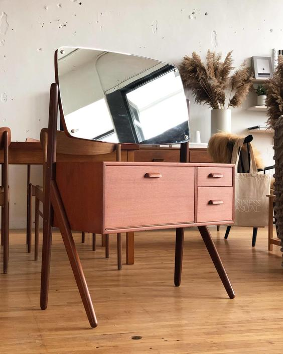 Danish Teak Vanity