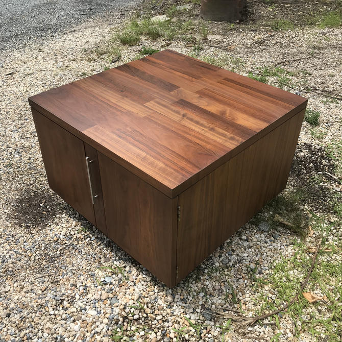 Lane Low Corner Sectional Sofa Cabinet Media Storage Coffee Table Vintage Mid Century Mad Men