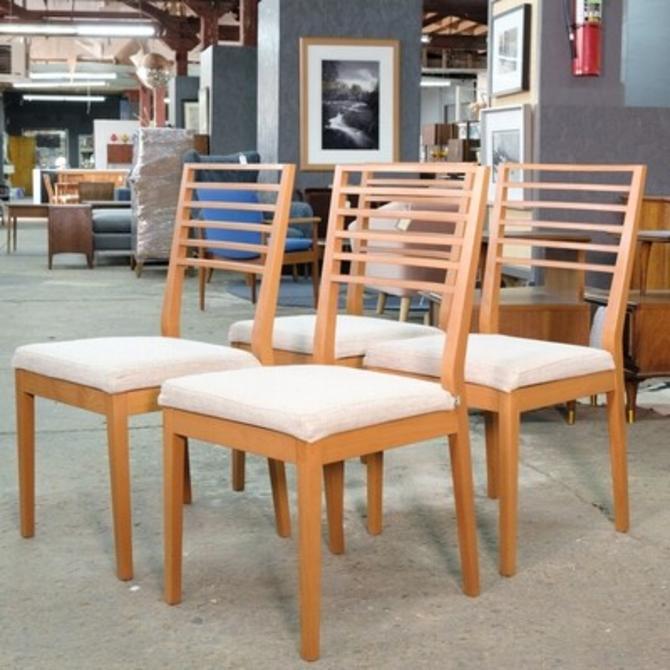 Set of 4 Boconcept Ladder Back Dining Chairs