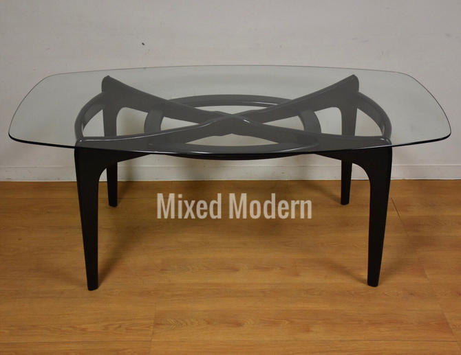 Adrian Pearsall Black Lacquer Dining Table by mixedmodern1
