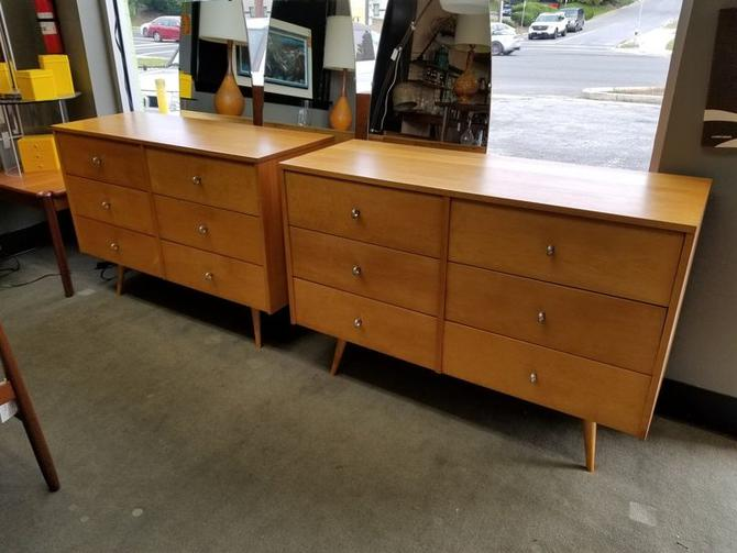Pair of Mid-Century Modern six drawer dressers from the Planner group by Paul McCobb