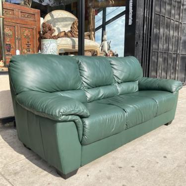 Keep Off the Grass   Green Millennium Leather Sofa