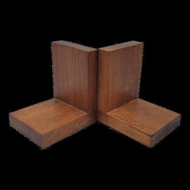 Mid-Century Modern Wooden Bookends - a Pair