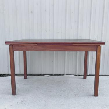 Petite Vintage Modern Teak Dining Table With Draw Leaves by secondhandstory