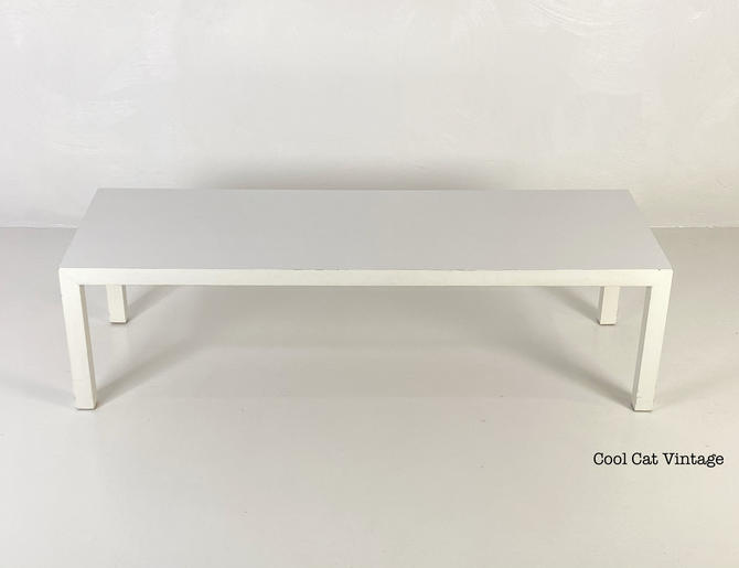 White Parsons Style Coffee Table by Lane Furniture Company, Circa 1975 - *Please see notes on shipping before you purchase. by CoolCatVintagePA