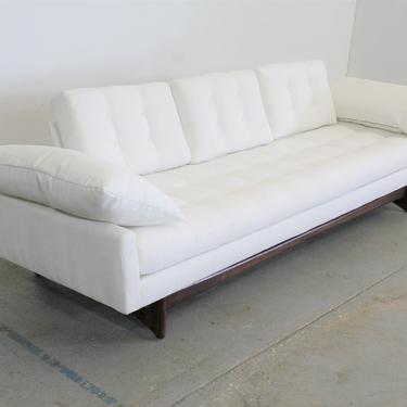 Mid-Century Modern Adrian Pearsall Craft Associates Sofa 2408 / Vintage Modern White Sofa by AnnexMarketplace