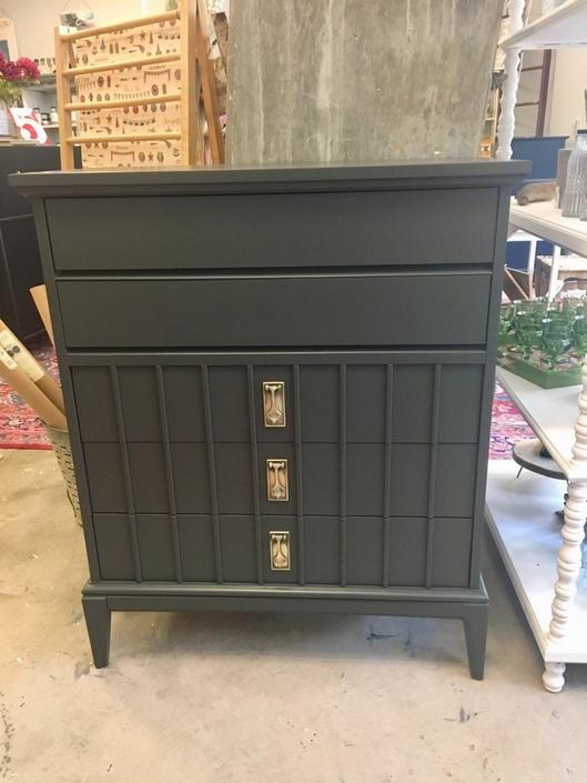 Watts- Ebony Tall MCM Dresser by StylishPatina