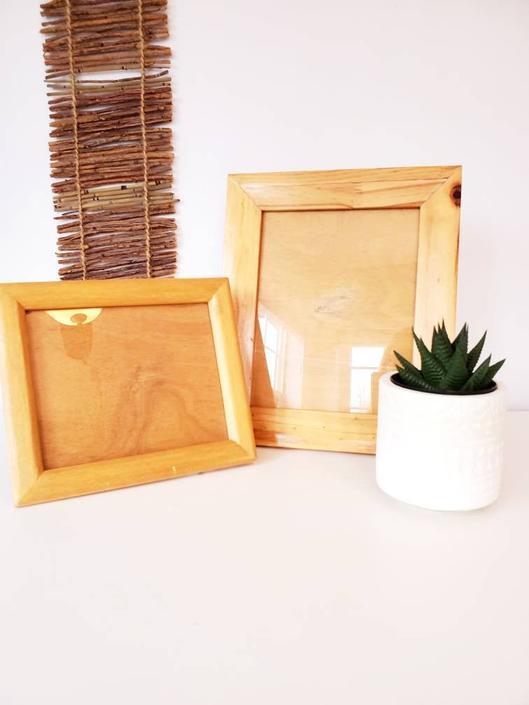 Vintage Handmade Wood Picture Frame Set by pennyportland