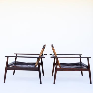 Pair of Hans Olsen Lounge Chairs for Juul Kristensen