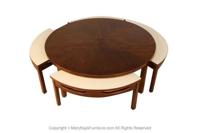 Mid Century Modern Walnut Nesting Coffee Table by Marykaysfurniture