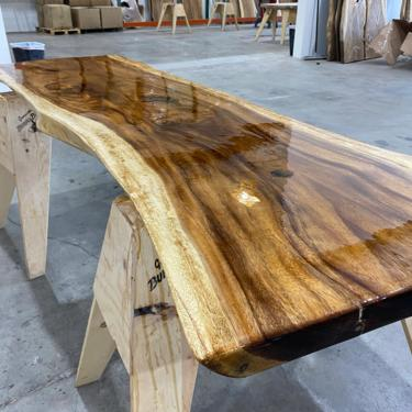 Live Edge Walnut Dining Table - Large Live Edge Walnut Conference Table by UmbuzoRustic