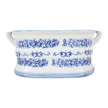 Blue and White Porcelain Planter by ErinLaneEstate