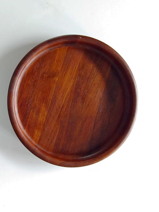 Rare Vintage Dansk Teak Tray Low Bowl by Jens Quistgaard by ModandOzzie