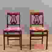 Stakmore Cherry Lyre-Back Folding Chair