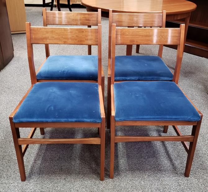 Item #T32 Set of Four Mid Century Dining Chairs c.1960s