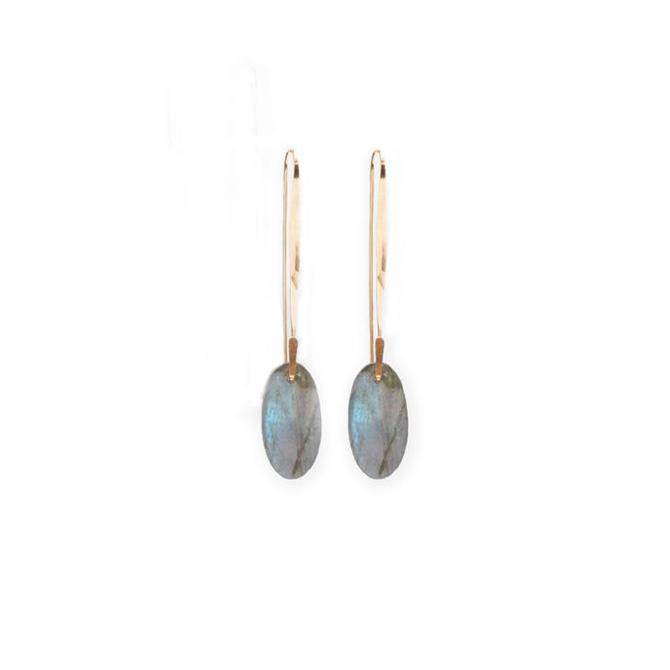 Ovalo Earring with Labradorite
