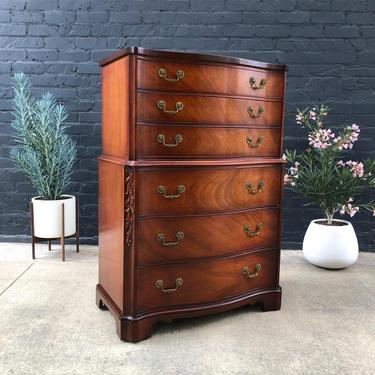 Antique Federal Mahogany Chest of Drawers Highboy, c.1950's by VintageSupplyLA