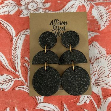 Kit: terracotta, granite or white clay earrings, post or clip-on. earthy, burnt orange, modern boho, southwestern. half moons circle by AllisonStreetNW