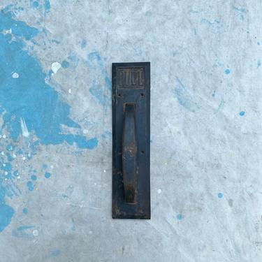 Vintage Payson Door Pull Plate Architectural Hardware Salvage by NorthGroveAntiques