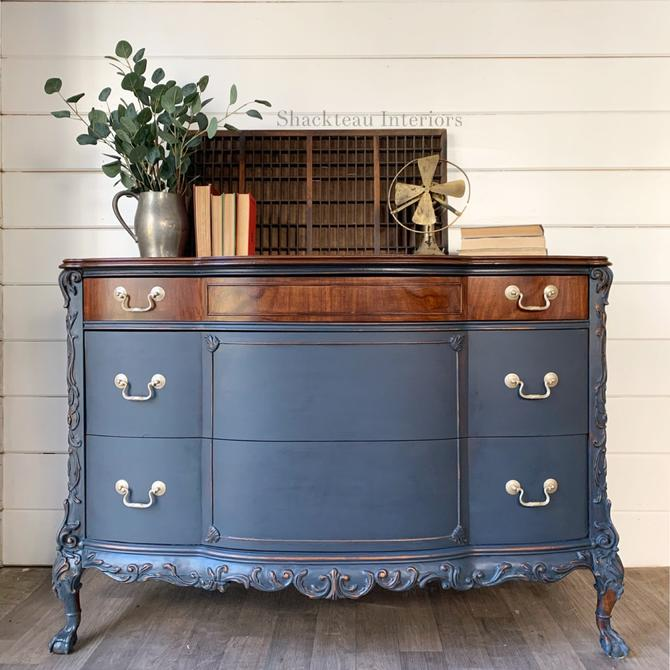 Antique Blue Moon Dresser