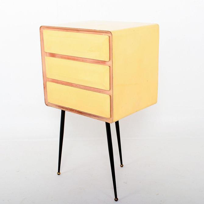 Mid Century Modern Borsani Style Vintage Office Desk Filing Cabinet by AMBIANIC