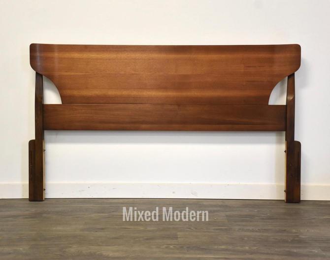 Walnut MCM Queen Headboard by Johnson Carper by mixedmodern1