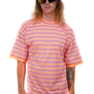 Oasis Orange Striped 90s T