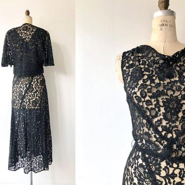 Spellbound dress and jacket   1930s lace dress   vintage 30s dress by DEARGOLDEN