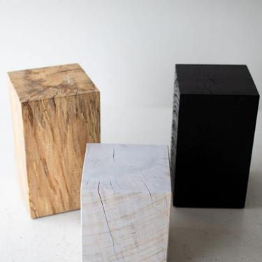 Reclaimed Wood Side Table by BertuHome