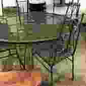 Vintage Wrought-Iron Patio Set