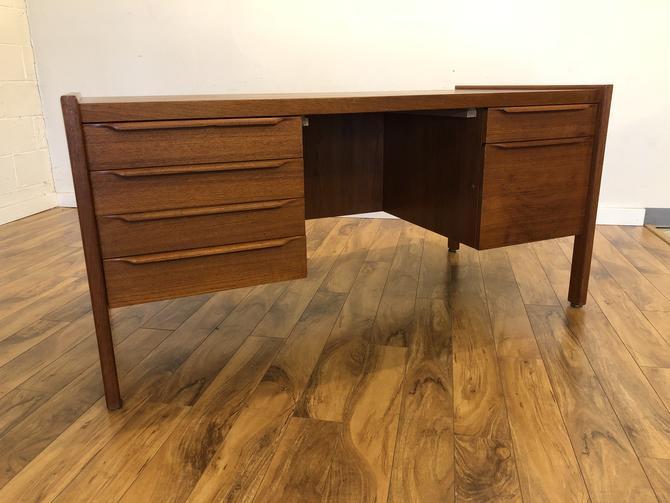 Vintage Walnut Executive Desk