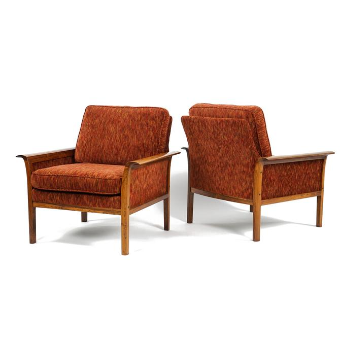 Knut Sæter for Vatne Lounge Chairs With Recent Upholstery Great Condition, Hans Olsen by fairmarketvintage