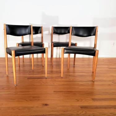 Mid Century Danish Modern Set of Four Dining Chairs by ProRefineFurnishings