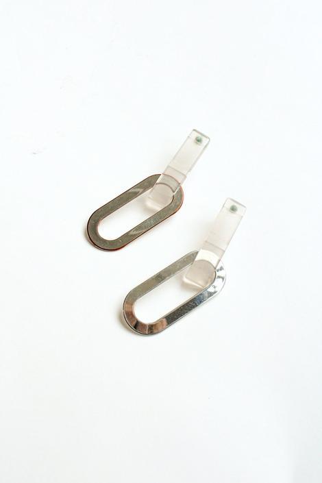 Rachel Comey Frosted Oval Links Earrings