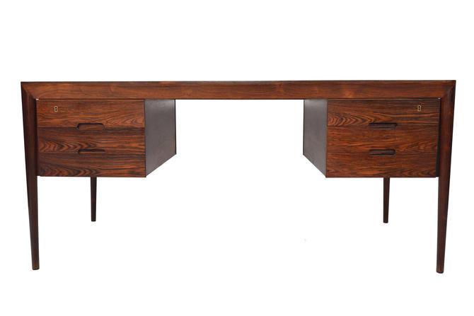 Danish Mid Century Modern Rosewood Executive Desk by Erik Riisager Hansen for Haslev Møbelsnedkeri by MidCenturyMobler