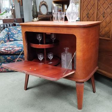 Mid-Century Modern bentwood bar cabinet