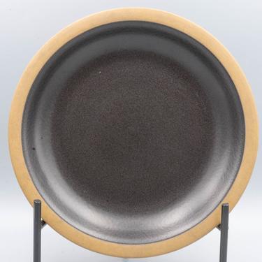 Heath Ceramics Rim Line Dark Brown Dinner Plate | Vintage California Pottery Stoneware | Mid Century Modern Dinnerware by MostlyMidCenturySF