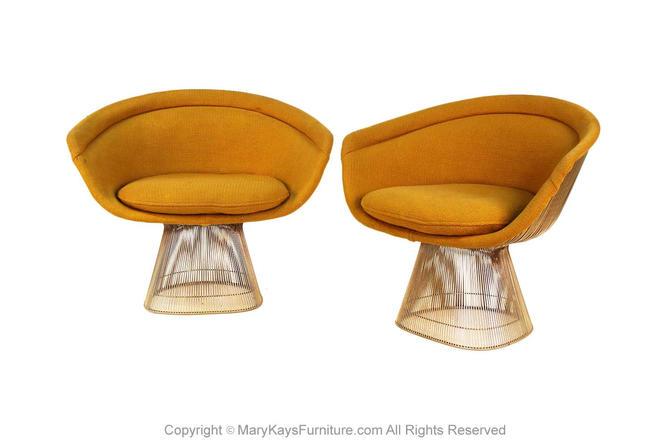 Pair Knoll International Warren Platner Wire Lounge Chair by Marykaysfurniture
