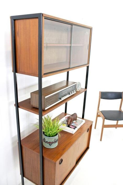 Mid Century Display /Wall Cabinet by Avalon.... by SputnikFurnitureLLC