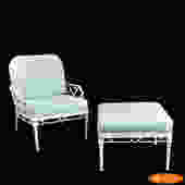 Brown Jordan Arm Chair with Ottoman