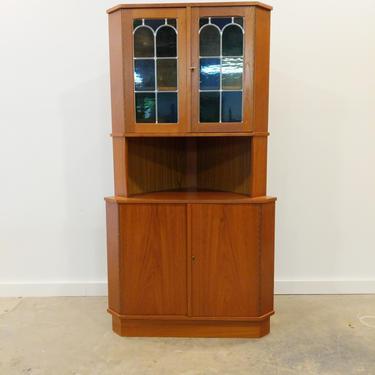 Vintage Danish Modern Teak Corner Cabinet by FarOutFindsNYC