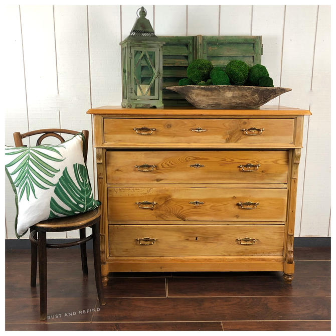 Antique pine dresser from Germany by RustandRefind
