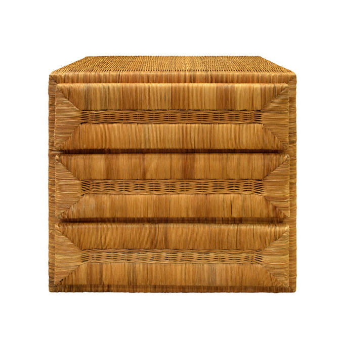 Elegant Chest of Drawers In Rattan 1970s