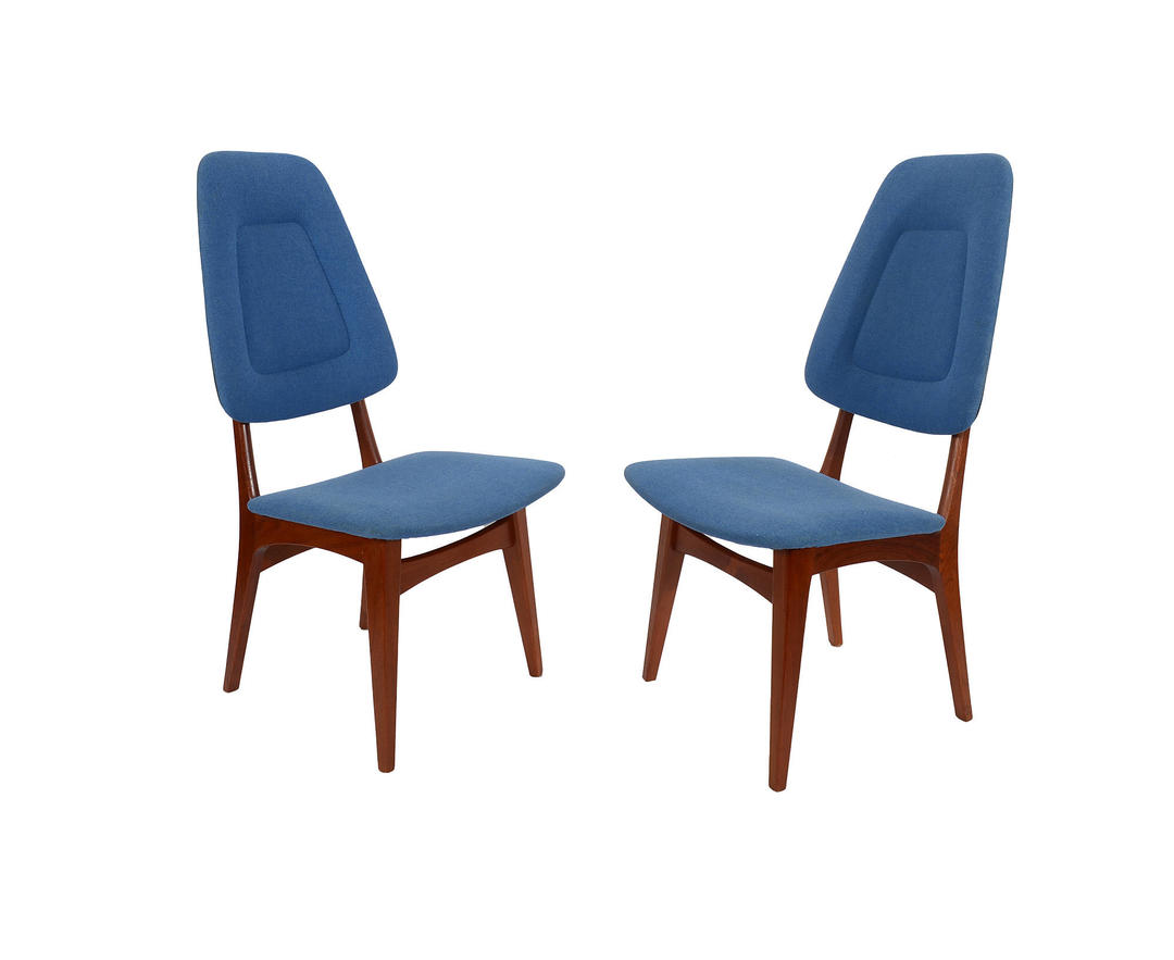 Danish Modern Teak Dining Chairs High Back Dining Chairs