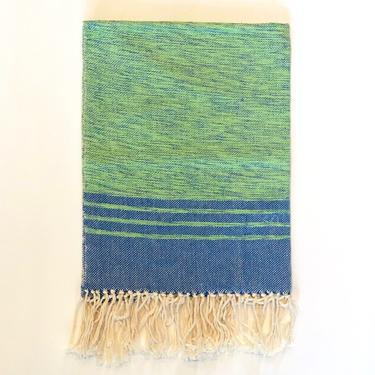 OALLA   Hand Towel   Green & Blue