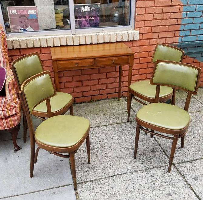 SOLD. Four Bentwood Cafe Chairs, $150 all four. Extension Sofa Table w 3 leaves, $146.