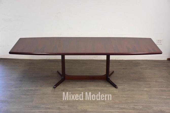 Danish Rosewood Extendable Dining Table by mixedmodern1