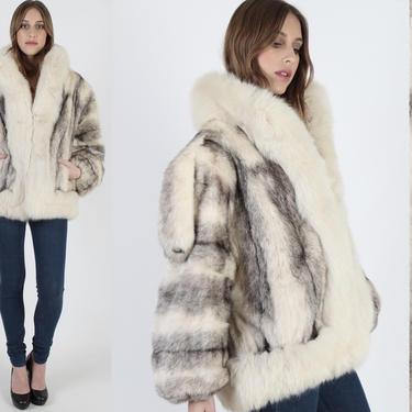 80s Cross Mink Coat With Shoulder Epaulettes Vintage 80s Arctic Fur Coat Plush Collar Luxurious  Bomber Mens Womens Real Fur Jacket by americanarchive