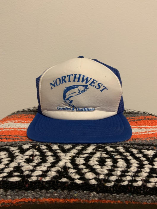 Vintage Snapback Trucker Hat Northwest Guides & Outfitters 80s-90s by DesertCactusVintage