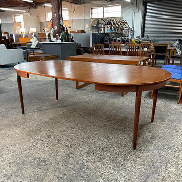 Danish Teak Dining Table with Extension Leaves